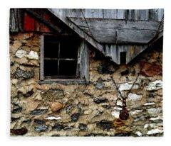 Field Stone Barn Fleece Blanket