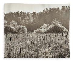Fields Of Bulrush Fleece Blanket