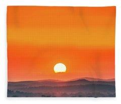 Fields Of Haze Fleece Blanket