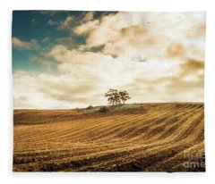 Fields Of Tasmanian Agriculture Fleece Blanket