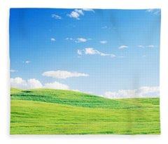 Fields Whitman Co Wa Usa Fleece Blanket