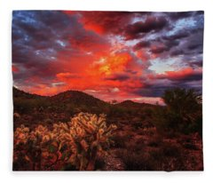Fleece Blanket featuring the photograph Fierce Beauty by Rick Furmanek