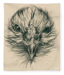 Fierce Hen Fleece Blanket
