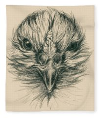 Fierce Hen Fleece Blanket
