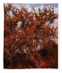Fiery Elm Tree  Fleece Blanket