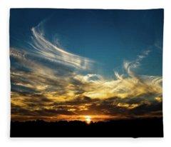 Fiery Sunset Fleece Blanket
