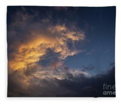 Fiery Wave Fleece Blanket