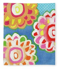 Fiesta Floral 3- Art By Linda Woods Fleece Blanket