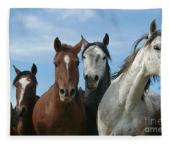 Fifteen Mile Mustang Herd  Fleece Blanket
