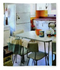 Fifties Kitchen Fleece Blanket