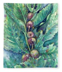 Figful Tree Fleece Blanket