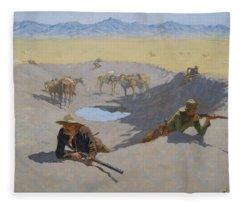 Fight For The Waterhole Fleece Blanket