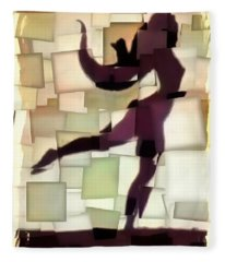 Figurative Dancer Fleece Blanket