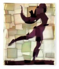 Figurative Dancer Fleece Blanket