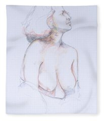 Figure Study Profile 1 Fleece Blanket