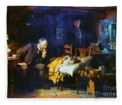 Fildes The Doctor 1891 Fleece Blanket