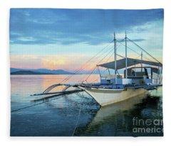 Filipino Sunset Fleece Blanket