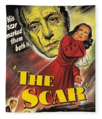 Film Noir Poster  The Scar Fleece Blanket