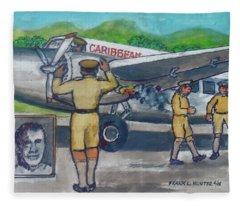 Final Flight Owen Roberts And Robert Wilson From Palisador Airport Kingston Jamaica Crash On Takeo Fleece Blanket