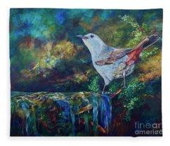 Gray Catbird Fleece Blanket