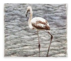Find Your Footing And Stand Firm Watercolor Fleece Blanket