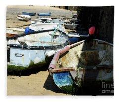 Fine Art Boats Fleece Blanket