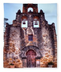 Fine Art Mission Espada - Mission San Francisco De La Espada Fleece Blanket