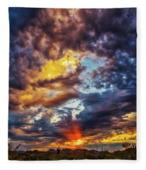 Fleece Blanket featuring the photograph Finger Painted Sunset by Rick Furmanek