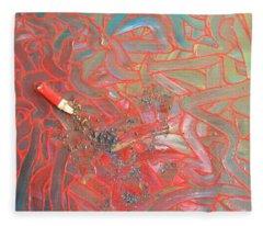 Finger Painting Fleece Blanket