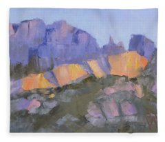 Finger Rock Fleece Blanket