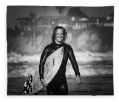 Finished Surfing Fleece Blanket