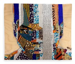 Finn Star Wars Awakens Afrofuturist  Fleece Blanket