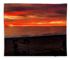 Fire Above Fire Below Fleece Blanket
