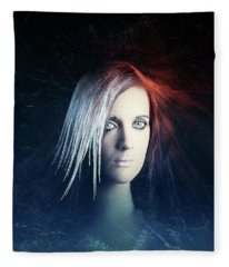 Fire And Ice Portrait Fleece Blanket