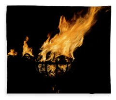 Fire Cressets Three Fleece Blanket