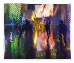 Fleece Blanket featuring the photograph Fire Dance by Alex Lapidus
