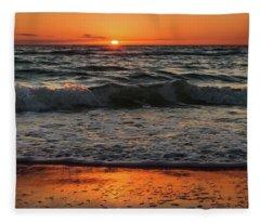 Cape San Blas Sunset Fleece Blanket