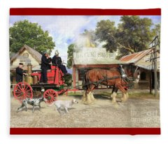 Fire Fire  Fleece Blanket