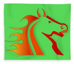 Ranch Digital Art Fleece Blankets