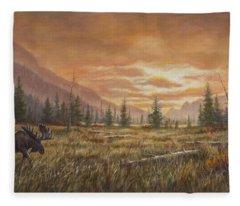 Fire In The Sky Fleece Blanket
