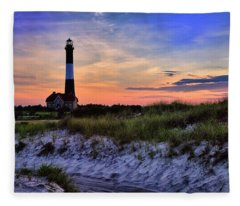 Fire Island Lighthouse Fleece Blanket