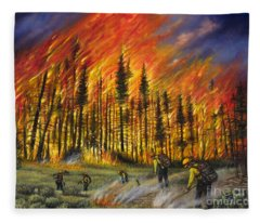 Fire Line 1 Fleece Blanket