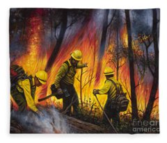 Fire Line 2 Fleece Blanket