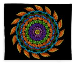 Fire Mandala Fleece Blanket