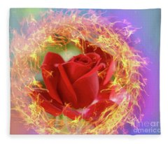 Fire Of Desire Fleece Blanket