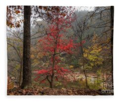 Fire On The Backroads Fleece Blanket