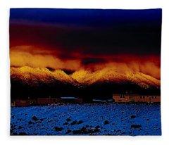 Fire On The Mountain  Fleece Blanket