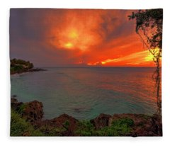Fire Sky Fleece Blanket