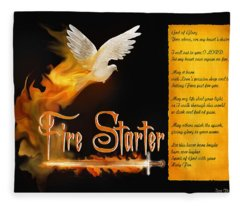 Fire Starter Poem Fleece Blanket