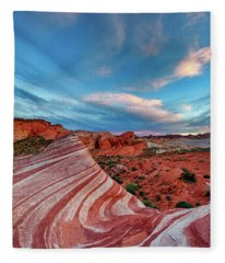 Fire Wave IIi Fleece Blanket